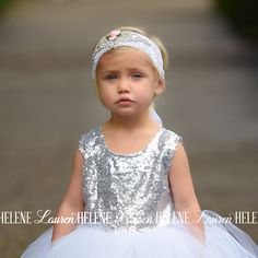 Abby Flower Girl White Lace Sash/Tieback Hair Accessory
