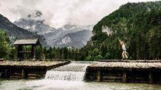 Foto: Marco Mestrovic: Der malerische Schiederweiher in Hinterstoder Spa Villa, Hallstatt, Mount Rainier, Mountains, Nature, Travel, Beautiful Curves, Photo Mural, River