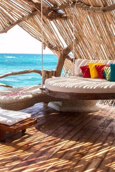 What We Love: daybed-appointed outdoor decks and views of the Caribbean. Azulik Hotel & Maya Spa (Tulum, Mexico) - Jetsetter