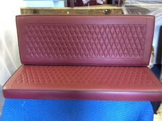 Vw camper bench with diamond stitching detail Car Seat Upholstery, Smart Car, Vw Camper, Chanel Boy Bag, Car Seats, Classic Cars, Stitching, Bench, Shoulder Bag