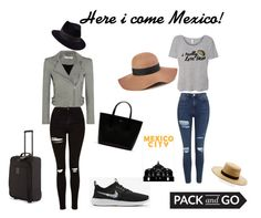 """""""Here i come mexico!"""" by luckyranidas ❤ liked on Polyvore featuring Topshop, IRO, Janessa Leone, Penmayne of London, Reiss, Lacoste and Longchamp"""