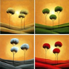 Contemporary Landscape Painting - The Four Seasons