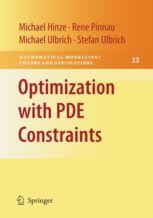 Optimization with PDE Constraints par Michael Hinze, etc chez Springer. A la BU : 515.353 OPT http://catalogue.univ-lille1.fr/F/?func=find-b&find_code=SYS&adjacent=N&local_base=LIL01&request=000604357