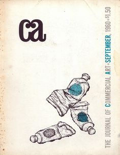 The Journal of Commercial Art. September 1960. Volume 2 #9.  Cover by Aldo Mirizzi.