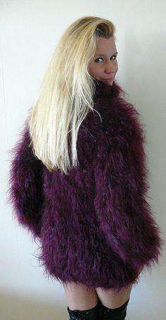 Mohair Sweater, Men Sweater, Turtleneck Dress, Gros Pull Mohair, Big Wool, Dress Up, High Neck Dress, Fox Fur Coat, Sweater Outfits
