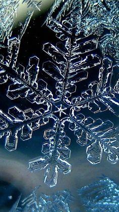 1080x1920 Wallpaper snowflake, winter, macro, ice