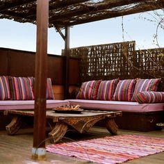 balcons terrasses déco marocain