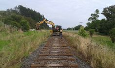 The famous Taneatua Rail Line in Whakatane New Zealand receives some love and care from the team at Awakeri Rail Adventures before opening to the public Self Driving, Railroad Tracks, New Zealand, Trains, Public, Adventure, Adventure Movies, Adventure Books, Train