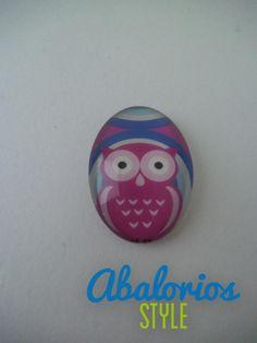 Cabuchon Buho azul rosa (CB094)