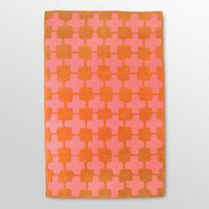 orange and pink! patterned rug #rug #pattern