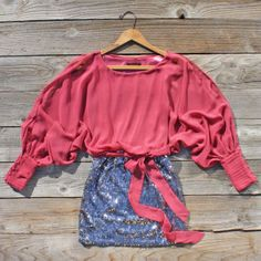 Sequined Autumn Dress in Pink, Sweet Women's Country Clothing Sequin Dress, Pink Dress, Country Chic, Country Life, Country Outfits, Fall Winter Outfits, Elegant Dresses, New Outfits, Pretty Outfits