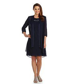 7fa1da082838d9 Le Bos Draped Chiffon Jacket Dress  Dillards. Love this one...love