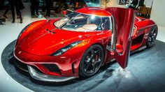 Koenigsegg Regera We saw the concept Regera – with a more powerful powertrain – last year. For 2016, we get the final, real production version. Koenigsegg has upped his game with his 1,500bhp 'direct-drive' enabled Regera, and the results are spectacular.  That power is sent through a revolutionary type of transmission system and capable of propelling the Regera from 0-62mph in just 2.8 seconds and a top speed of at least 249mph.