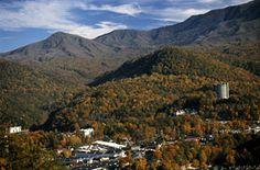 Gatlinburg, Tennessee,  Smokey Mountains - took a gondola ride to the top of a mountain