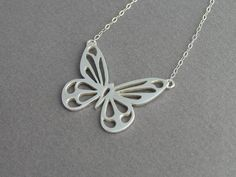 Butterfly Necklace Pendant Sterling by DaliaShamirJewelry