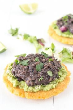 Homemade Sopes with Refried Black Beans