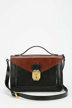 $54 Urban Outfitters Cooperative Alexis Push-Lock Crossbody Bag BLACK/MULTI, WHITE, BROWN, DARK GREEN, RED
