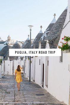 How to road trip through Italy's most photogenic region, Puglia.  Visit Polignano a Mare, Alberobello, Gallipoli, Ostuni, Locorotondo and more!