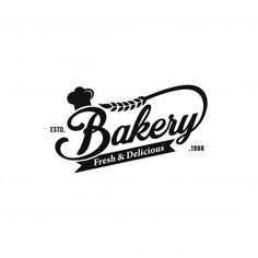 Collection of bakery logos in hand drawn style Vector Cake Logo Design, Branding Design, Ad Design, Graphic Design Posters, Graphic Design Tutorials, Chef Logo, Banners, Vintage Bakery, Vintage Logo Design