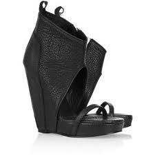 Rick Owens Cut-out Wedge Sandals