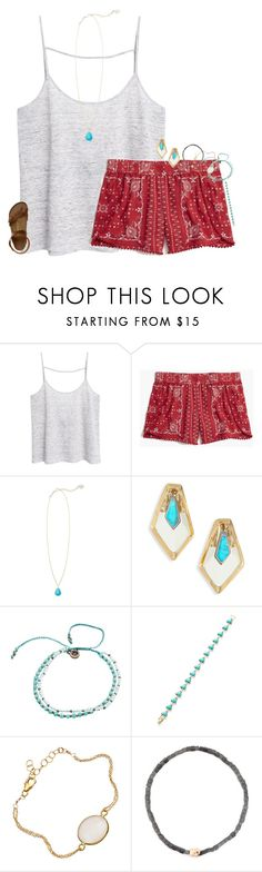 """Boho Vibe"" by mac-moses ❤ liked on Polyvore featuring MANGO, Madewell, Kendra Scott, Alexis Bittar, One Button, Luis Morais and Birkenstock"