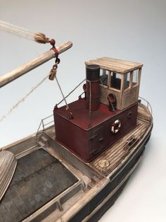 HO Scale Steam Freighter Kit, Waterline Hull-HO scale Steam Freighter These small but rugged coastal freighters, called Clyde Puffers, were built from the through 1920 to carry freight into and around the coastal w Toy Steam Engine, Duck Blind Plans, Utility Boat, Center Console Boats, Boat Kits, Boat Projects, Rail Car, Old Boats, Outboard Motors