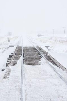 Ice & Snow on train tracks I Love Winter, Winter Snow, Winter White, Vampire Knight, Alphonse Elric, The Book Thief, Train Tracks, Winter Photography, Spring Day