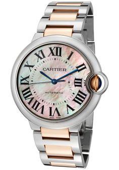 32c6b447d14 Cartier Ballon Bleu De Cartier Automatic Pink Dial Watch