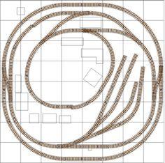 O Gauge Loops and Yard Model Railroad Track Plan