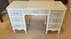 home accessories shabby chic french provincial desk makeover, painted furniture, shabby chic