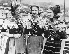 Danish Princesses in National Costume.