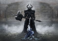 Morgoth and Fingolfin. by helgecbalzer on DeviantArt (Mostly pinning this because of the hammer…)