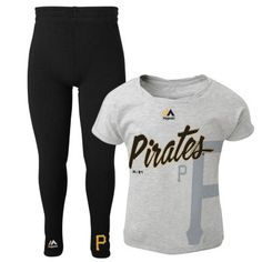 Girls 4-6x Majestic Pittsburgh Pirates Drop Tail Dolman Top with Leggings $12.00