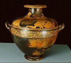Etruscan Pottery, a large water vessel Classical Period, Black Figure, Antique Pottery, Minoan, Prehistory, Museum Collection, Ancient Romans, Ancient Greece, Vincent Van Gogh