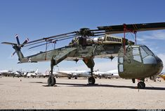 Sikorsky CH-54A. Very similar to the Erickson Air Crane, they're both about lifting heavy, heavy stuff.