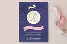 Over the Moon by Noah and Olivia at minted.com