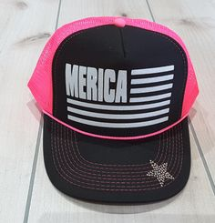 5fdcd9d6caf7e8 Merica #Merica Glitter Trucker Hat Patriotic Hats Fourth Of July Hat  Memorial Day Glitter Merica Womens Trucker Hats