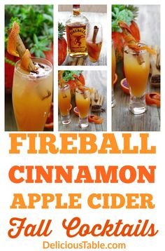 Fireball Cinnamon Apple Cider Fall Cocktails are an easy refreshing orange, cinnamon, clove, and apple cider drink recipe for Thanksgiving or fall entertaining! Great Thanksgiving recipe or Fall recipe! Fireball Cocktails, Fireball Recipes, Cider Cocktails, Alcohol Drink Recipes, Fall Cocktails, Refreshing Cocktails, Fireball Apple Cider Recipe, Fall Drinks Alcohol, Gourmet