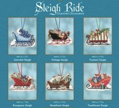 Mill Hill Kits ~ Sleigh Ride Ornaments PRE-ORDER!