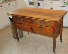 antique kitchen island For the Home Pinterest Kitchens