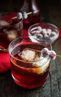 12 Festive Winter Cocktails - Cranberry-Ginger Sparkling Rum Cider | {Katie at the Kitchen Door}