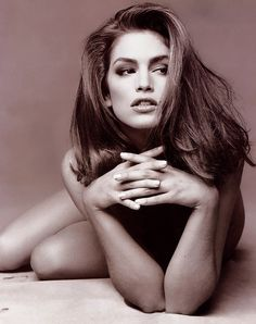 Cindy Crawford. I adored her growing up, and I love how she always stayed true to her look. Simple makeup, long beautiful hair, and the iconic beauty mark.