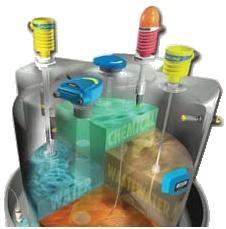 http://www.intrave.com/flowline.htm Soluciones ultrasónicas, flotador o presión, nivel de químicos, aceites ligeros, aguas o tanque residual. Explosión proof, intrínsecamente seguro, propósito general, sensor de contacto para corrosivos, pegajosos, espumosos o fangosos. Acero para altas temperaturas. Sumergibles para presión y externos para aire, agua, químicos ligeros y residuales.