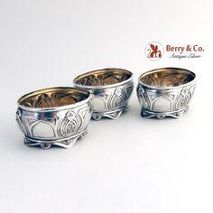 Natural Forms, Antique Silver, Art Nouveau, Salt Cellars, German, Monogram, Antiques, Jewelry, Deutsch