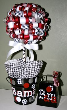University of Alabama Ribbon Topiary by ForHisGlorybyLeilani, $25.00