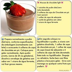 Mousse de chocolate light