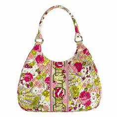 Vera Bradley Make Me Blush Pink Large Hobo bag Vera Bradley Hobo styled bag.  Great 61df02d935150