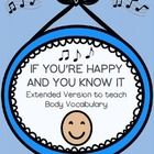 """This freebie is a longer version of the original song, """"If you're happy and you know it."""" I orignally developed this product to target 'body vocabu. All About Me Preschool Theme, All About Me Activities, Pre K Activities, Autism Activities, Therapy Activities, Therapy Ideas, Classroom Activities, Speech Language Therapy, Speech And Language"""