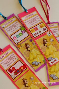 Beauty and the Beast's Belle Bookmark craft is super for birthday parties, playdates, or just for the Belle fan!