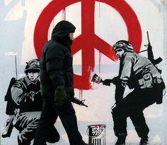 Banksy,  love this street art genius!!